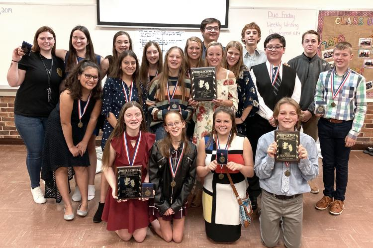 Canadian Middle and Elementary School students win District Academic UIL