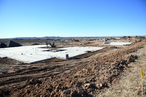 The footprint of the new Mesa View Senior Living facility has taken shape west of Mesa View Assisted Living and Mesa View Independent Living.