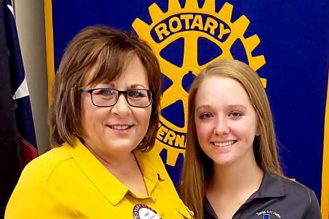 Rotarian Janet Guthrie and Paige Perry