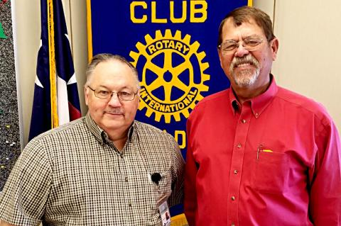 EANH Administrator Terrell Thomas and Rotarian Steve Rader