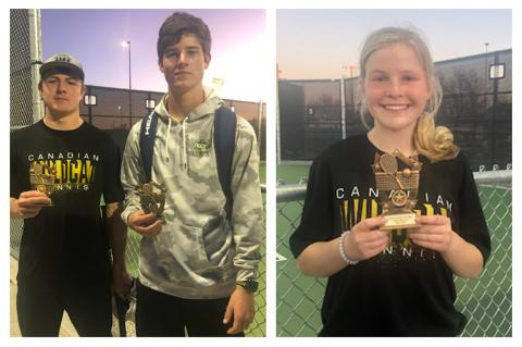 CHS Tennis singles player Berkleigh Baileys and mixed-doubles teammates Hayze Hufstedler and Rylun Clark