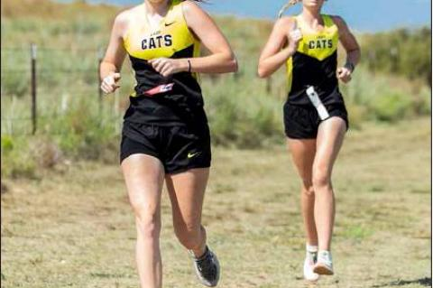 LADY CAT RUNNERS MCKENNA CAVALIER & KENNEDI COOK