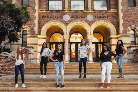 2020 Homecoming Court: This year's Senior Queen Candidates (in back row, from left to right) are Alondra Ortega, Maggye Coffee and Leslie Gonzalez. Princesses are (in front row, left to right) are Freshman Samantha Krehbiel, Junior Emory Brewer, and Sophomore Moraima Morales.