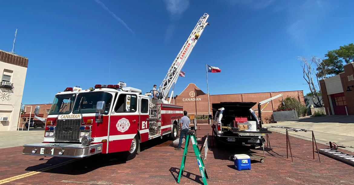 Canadian VFD's ladder truck gets its annual physical