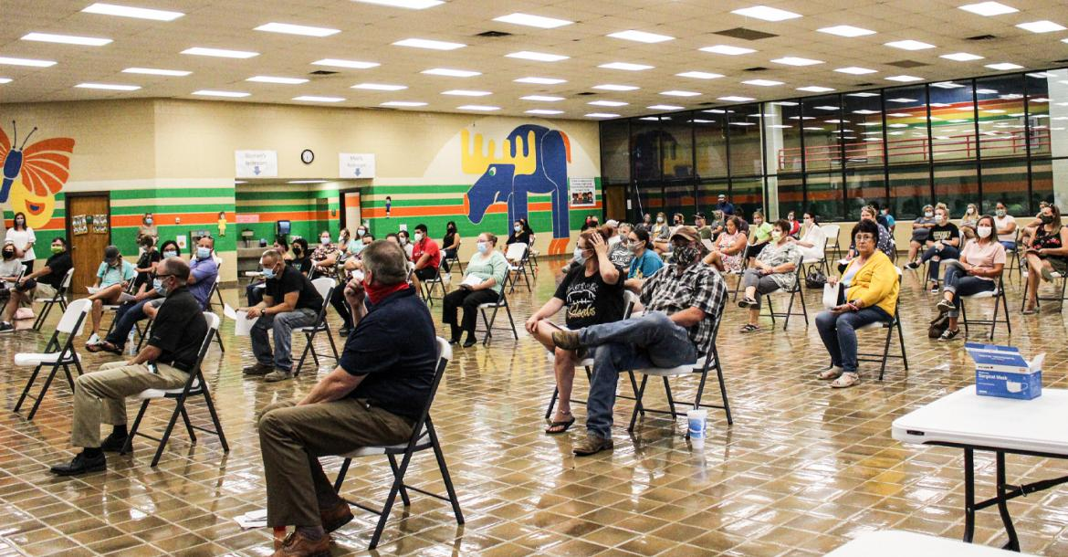 Public hearing on 'Safe Return to School' plan draws a crowd to CES last Thursday